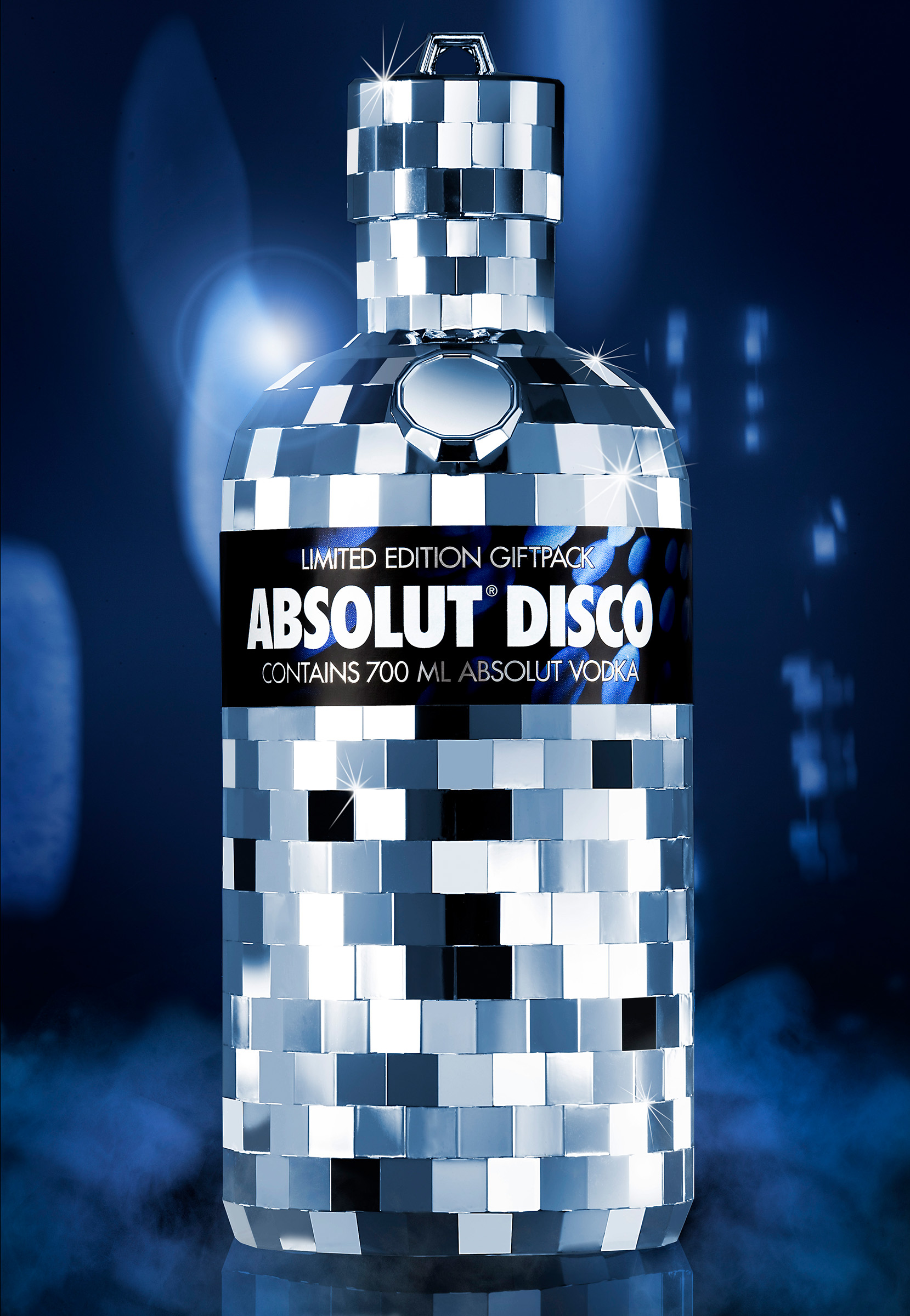 Absolut Disco Alcohol product photography