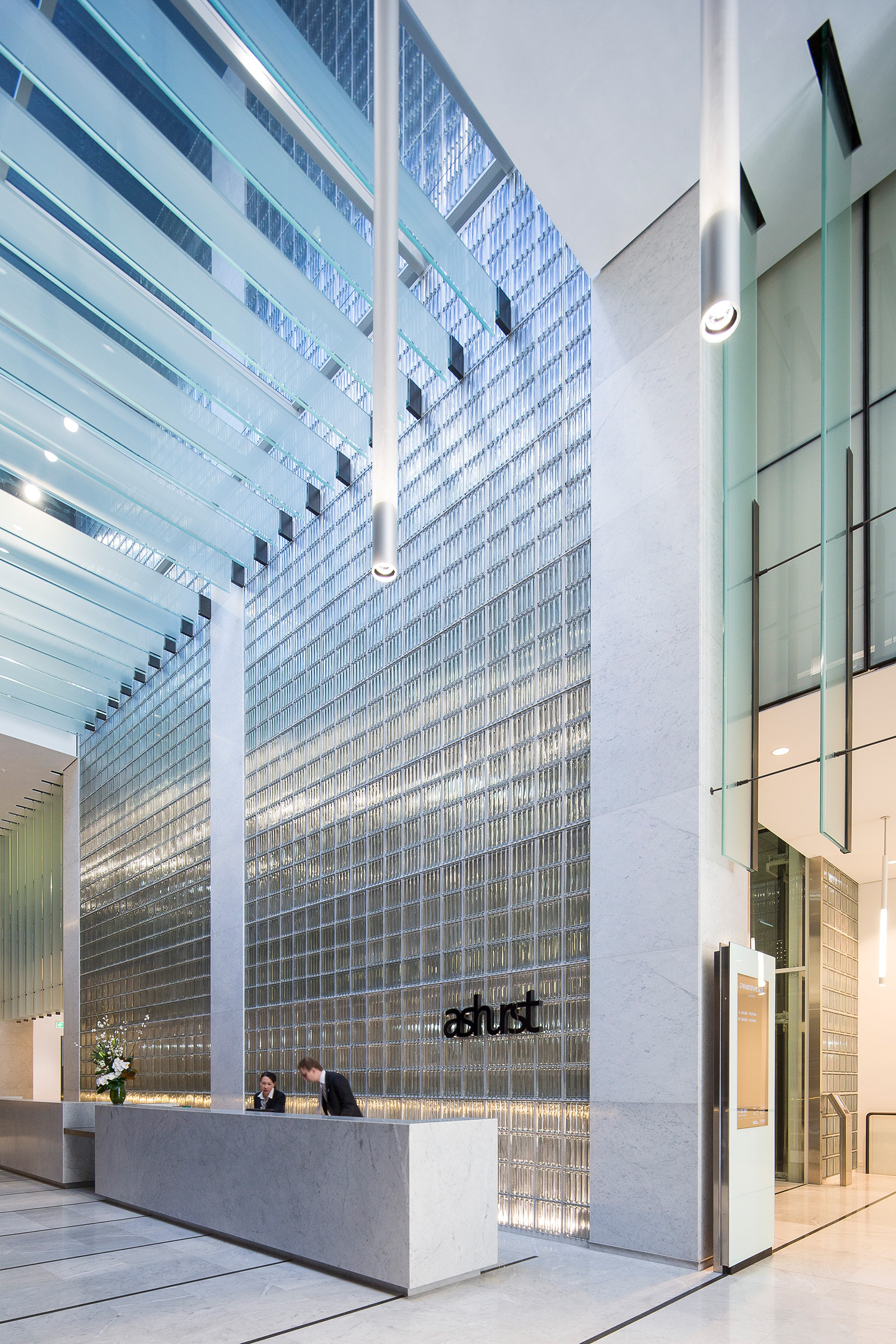 Interior architectural photography Ashurst building foyer