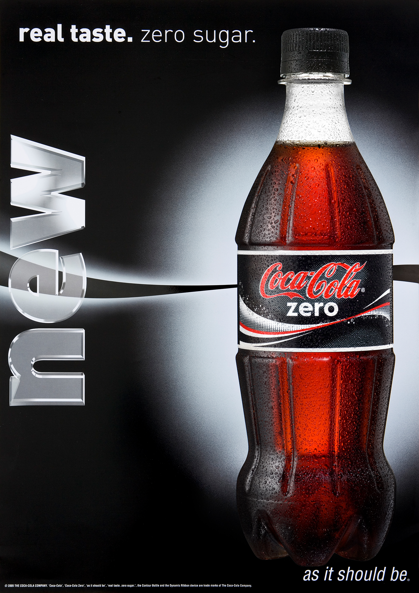 Advertising studio photography 600ml bottle Coca Cola zero