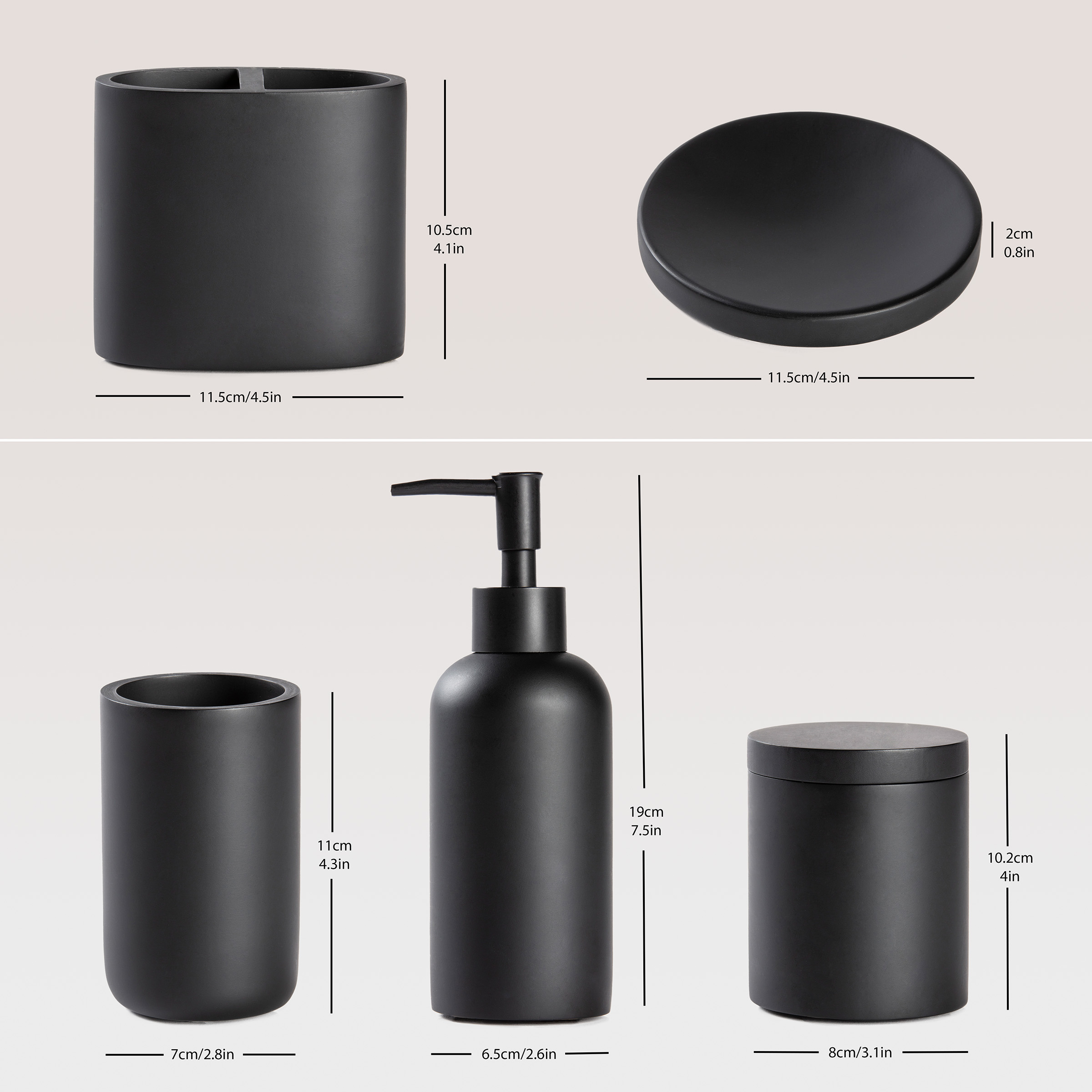 Studio product photography for Info Graphic of bathroom accessories