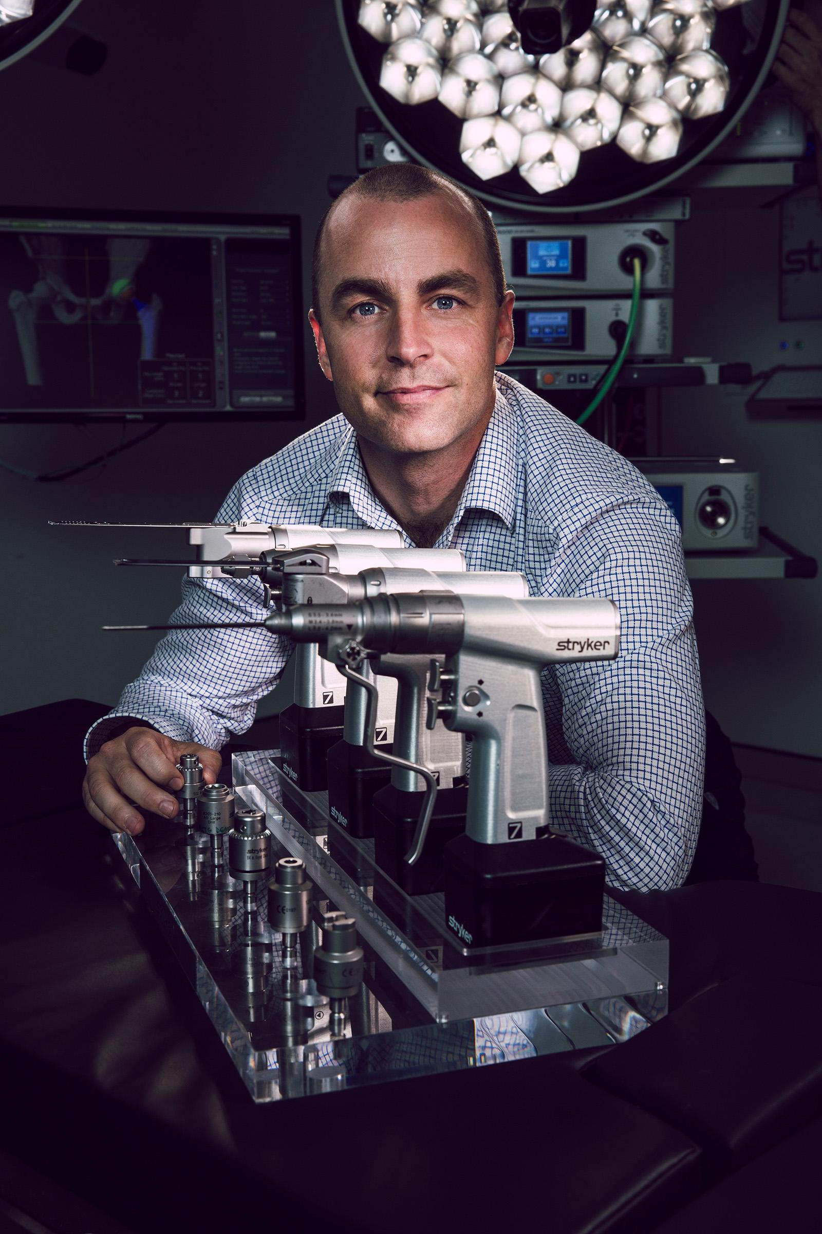 Editorial location Managing Director medical photography Ryan McCarthy Stryker