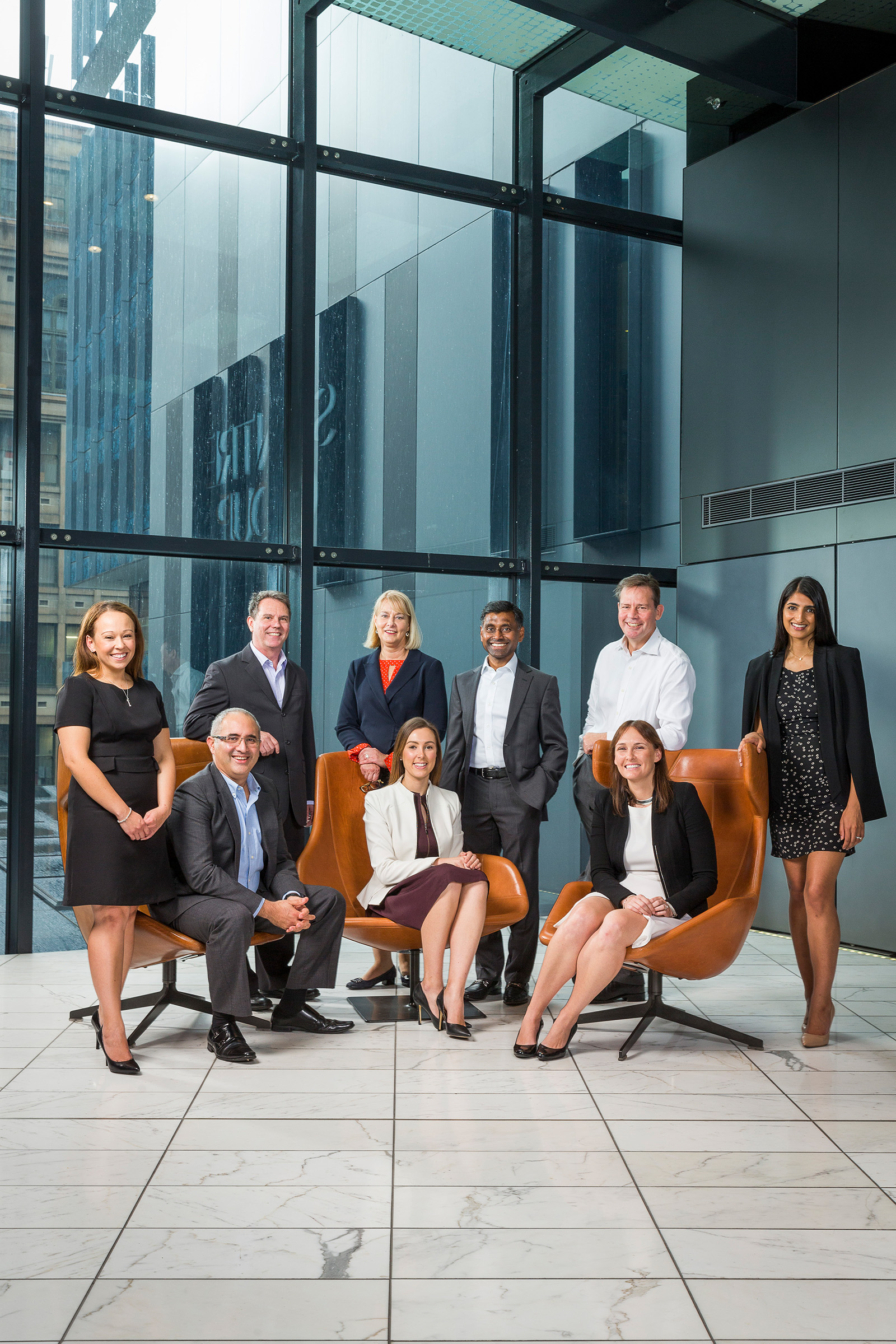 Corporate editorial group shot photography Scentre Group