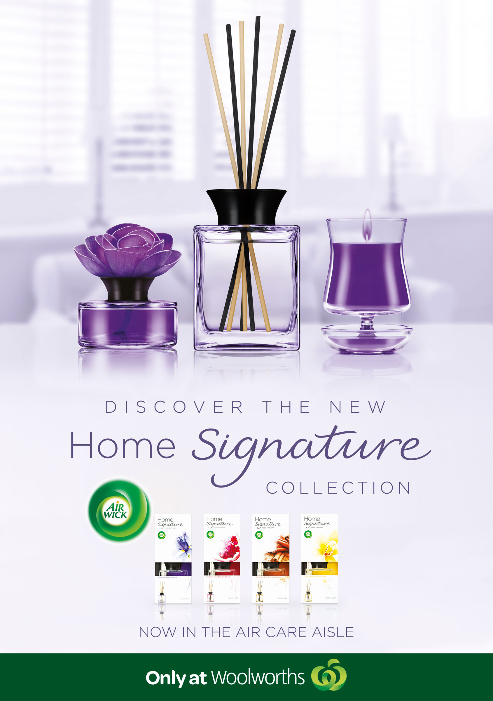 advertising campaign of home fragrances