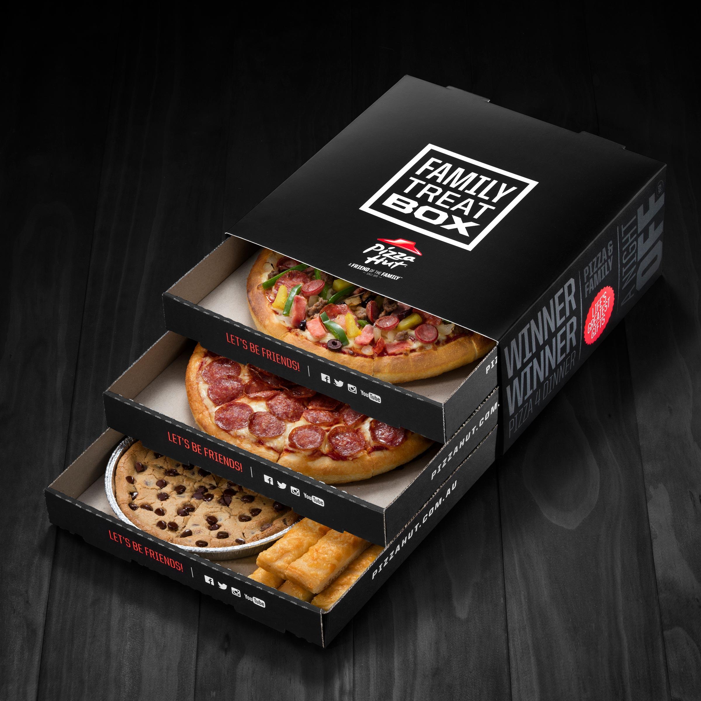 three stacker pizza box